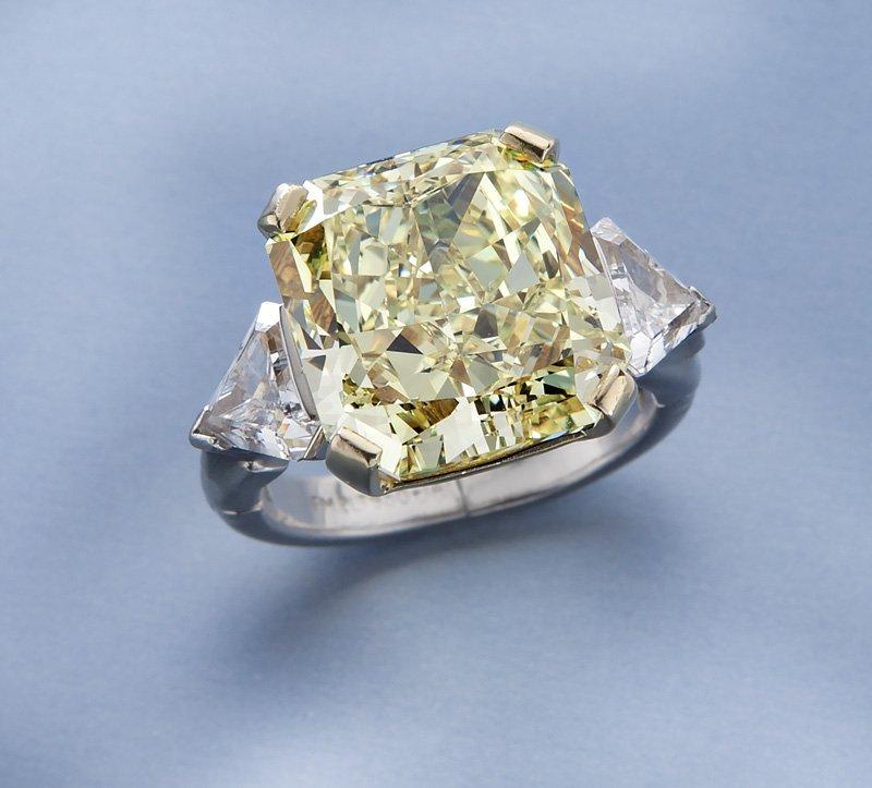 11.67 ct. fancy intense yellow (GIA) diamond ring