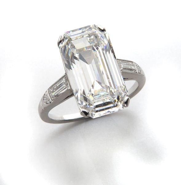 Platinum and diamond ring (GIA),