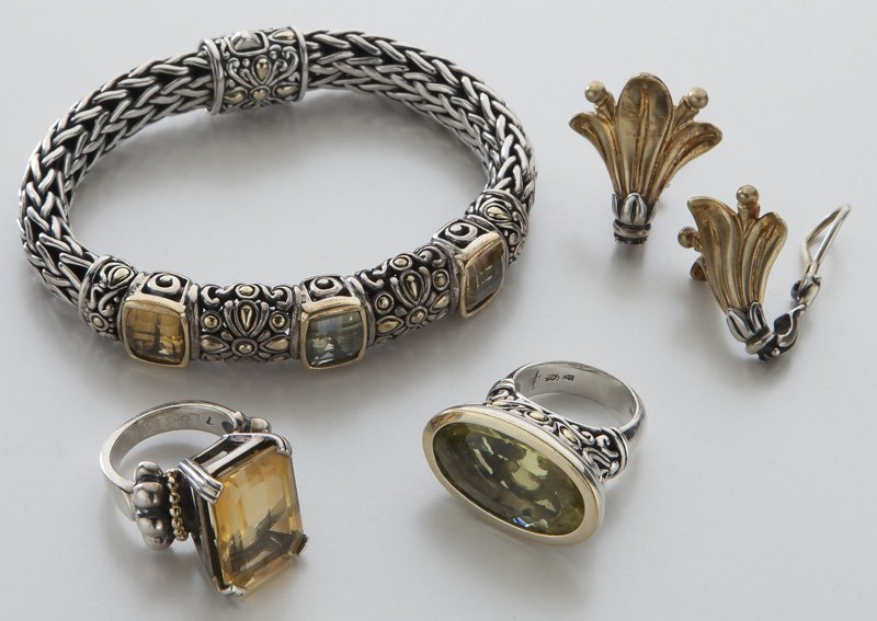 4 pcs. Lagos / John Hardy / Konstantino jewelry