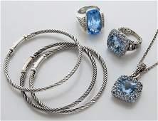 6 pcs John Hardy  David Yurman sterling jewelry