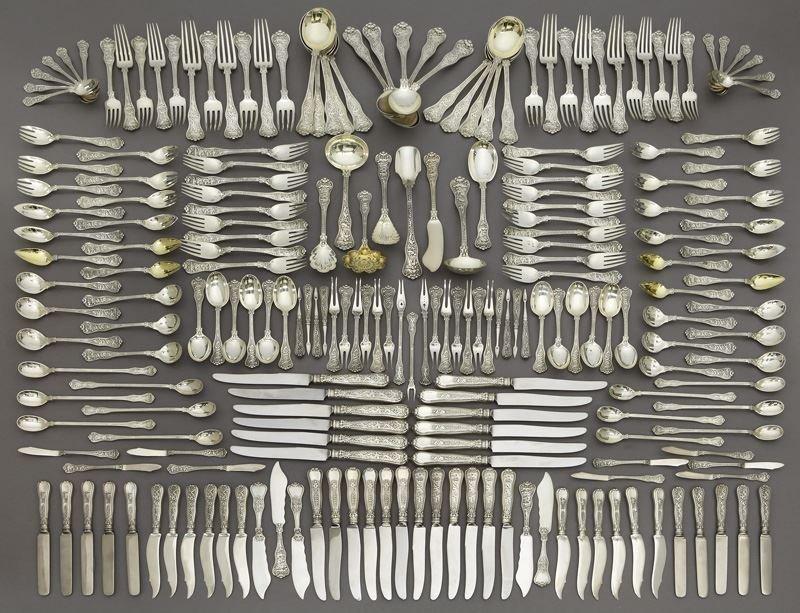 219 Pc. Tiffany Olympian sterling silver flatware