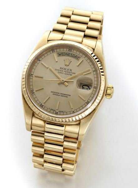 Rolex 18K gold men s Oyster Perpetual wristwatch 14fa30585f76