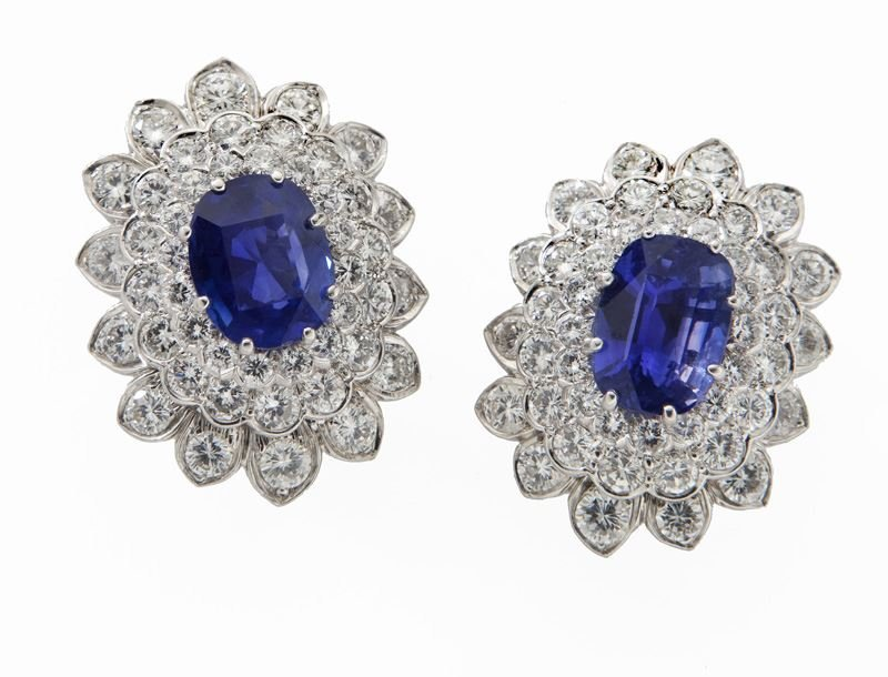 David Webb platinum, sapphire (AGL), & diamond