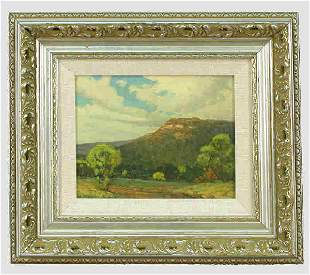 Signed Dwight Clay Holmes (LR) oil on board