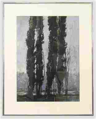 Signed John Fincher (LR) oil on paper