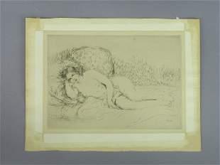 Signed Pierre Auguste Renoir (LR) engraving