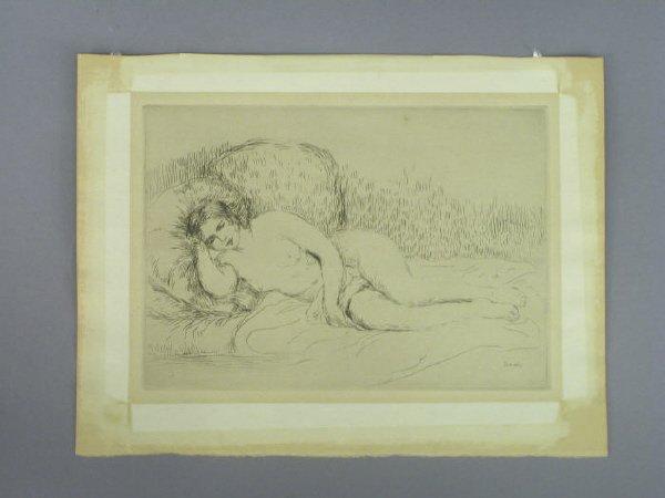 5: Signed Pierre Auguste Renoir (LR) engraving