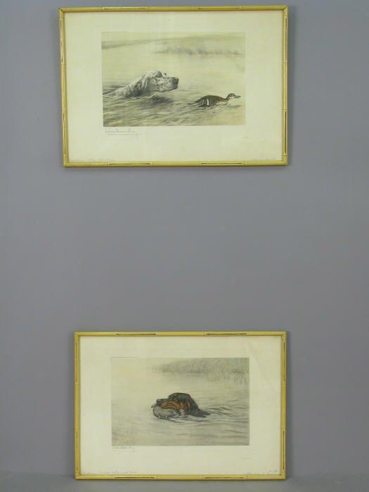 9: Pair of signed Levin Dauchin (LR) photogravures