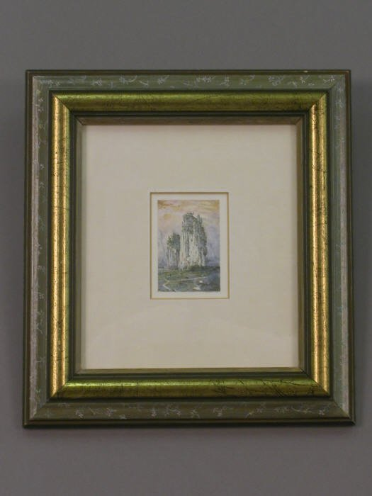 11: Signed Robert Bates (LR) watercolor on paper
