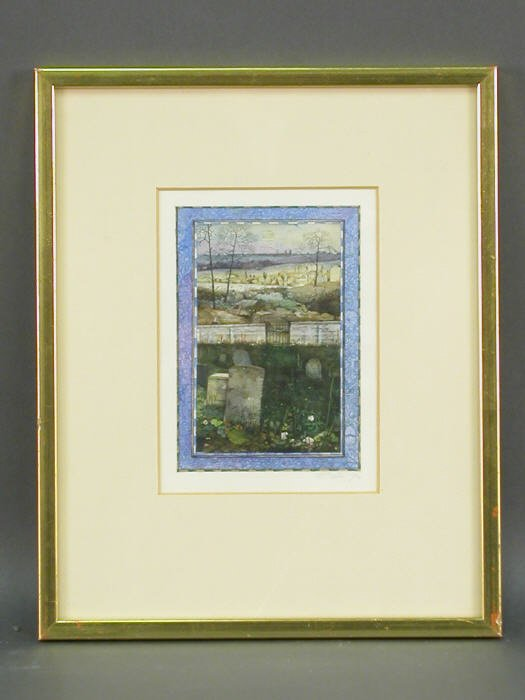 12: Robert Bates watercolor on paper titled