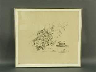 Signed Alfred Kubin (LR) lithograph titled