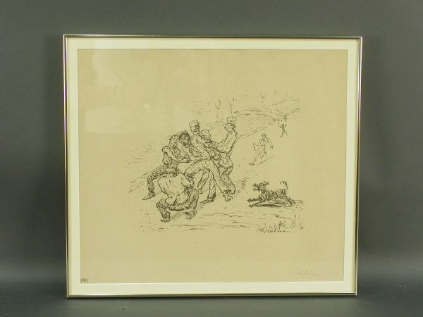 16: Signed Alfred Kubin (LR) lithograph titled