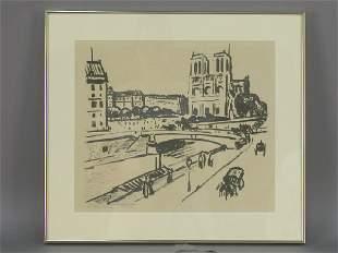 Signed Fritz Hoffman-Juan (LR) lithograph