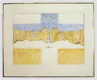 Bob Ewing watercolor on paper