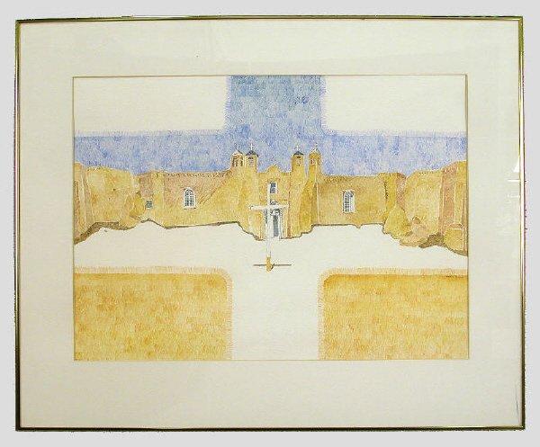 22: Bob Ewing watercolor on paper