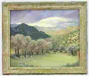 23: Signed Agnes Tait (LL) oil on canvas
