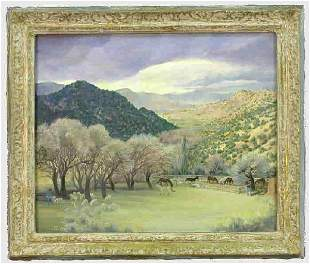 Signed Agnes Tait (LL) oil on canvas