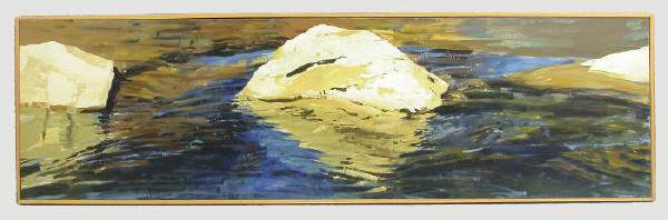 "127: Forrest L. Moses Jr. oil on canvas titled ""Rock"