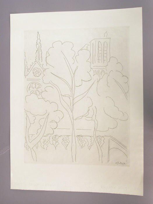 152: Signed Henri Matisse (LR) original etching titled,