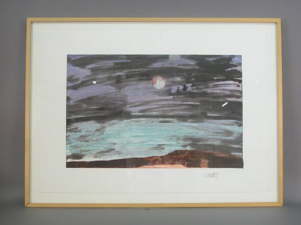 157: Signed Forrest Moses (LR) monotype untitled