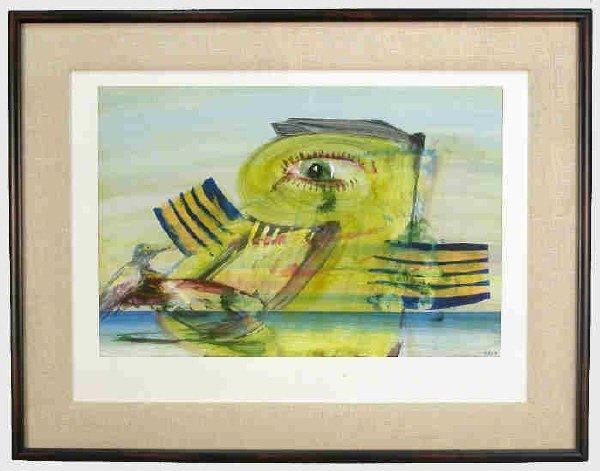 161: Signed Elliott Green (LR) acrylic and pencil on