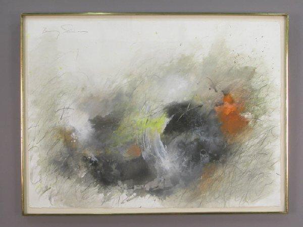 164: Signed Baruj Salinas (UL) watercolor and graphite