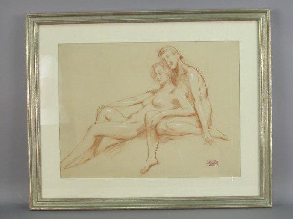 172: Signed Nicholas V. Haritonoff (LR) pastel on paper
