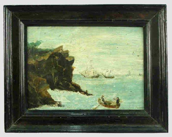 310: Signed Henri Rousseau (LR) oil on wood panel