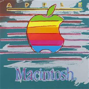 """Andy Warhol, """"Apple (from Ads)"""" color screenprint"""