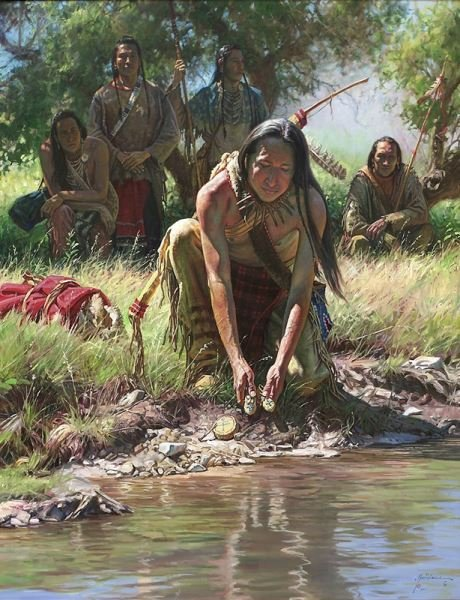 """Martin Grelle, """"Gifts for the Little People"""" oil"""