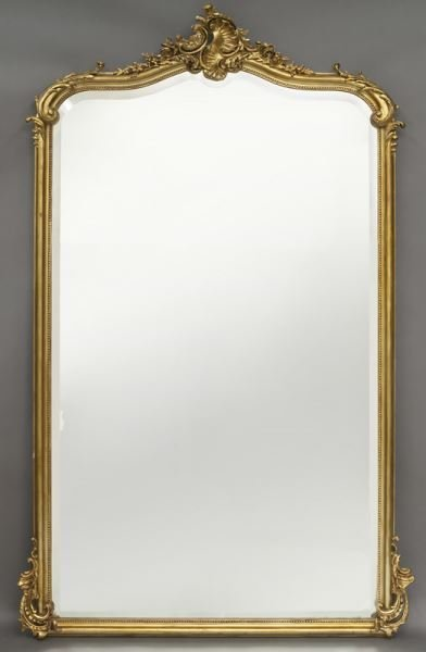 Louis XV style gilt wood carved wall mirror