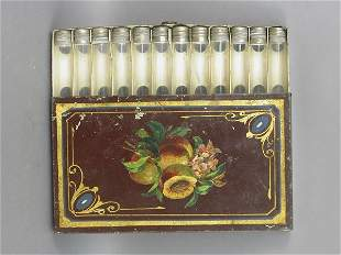 19th century American Tole painted cigar