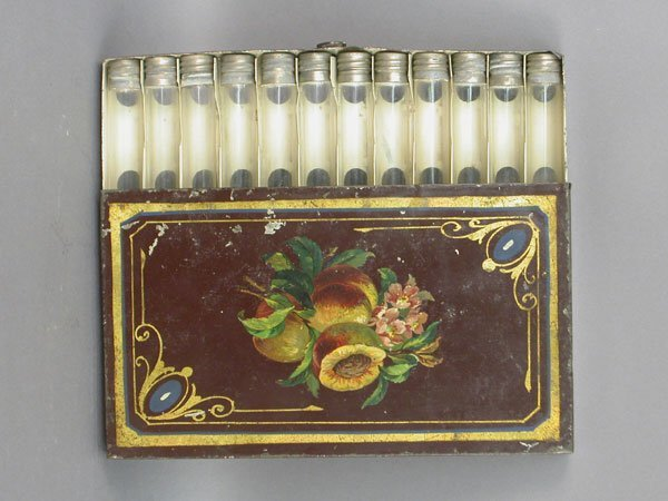 502: 19th century American Tole painted cigar