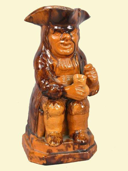 506: Bennington Toby jug, handle of pitcher i