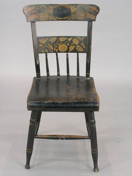 508: Early American side chair with ebonized