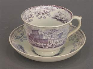 Crystal Palace large cup and saucer in b