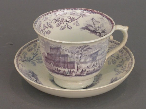 513: Crystal Palace large cup and saucer in b