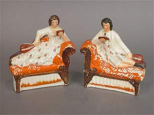 Pair of Staffordshire figures, likely us