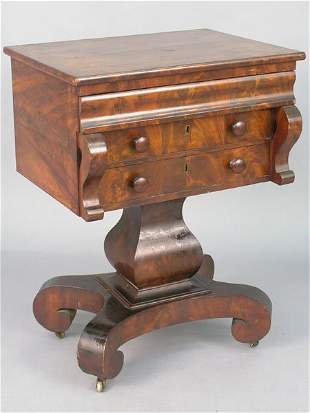 19th century flame mahogany veneer empir