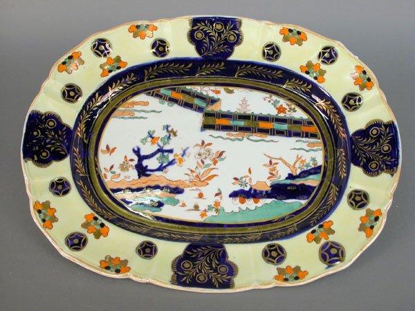 524: Mason's Transferware platter, lovely sca