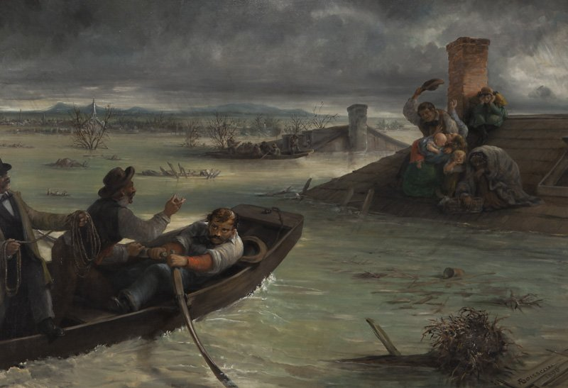 "Alfred W. Boisseau, ""Flood of the Mississippi"""