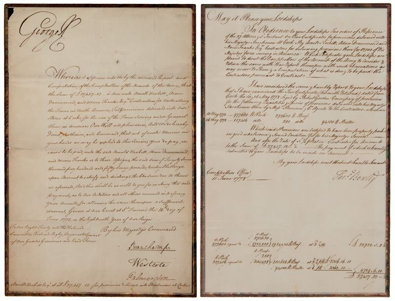 "King George III document signed ""George R""."