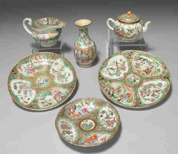 6: 6pcs. Chinese Export porcelain in the Famille Rose