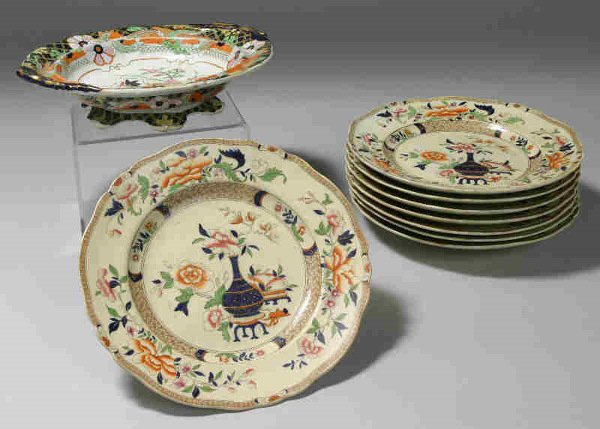 7: 9pcs. assorted stamped Imperial Stone China