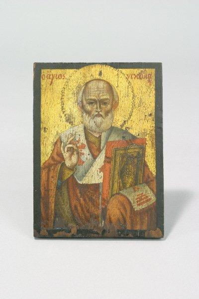 14: A Greek Icon depicting St. Nikolas the