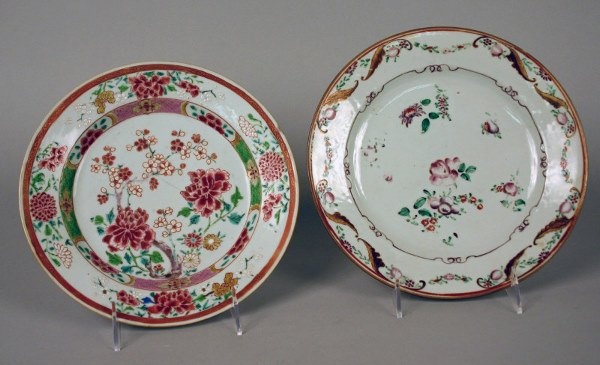 17: Two Chinese Export Famille Rose plates.