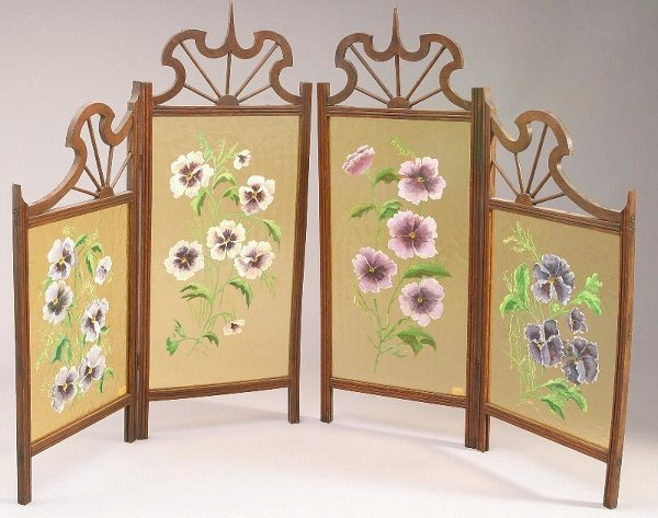 160: A French table top folding screen in Art
