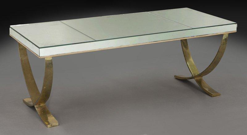 Art Deco mirrored rectangular coffee table