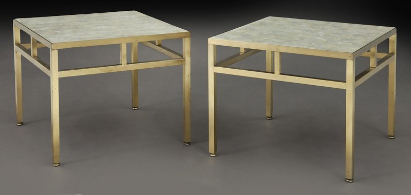 Pr. William Haines style capiz shell end tables