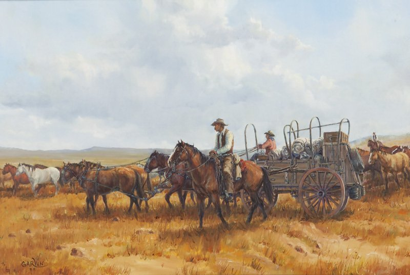 """Barbara Garvin, """"The Trail Boss"""" oil on canvas,"""